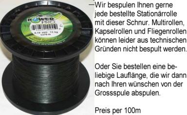 RUND GEFLOCHTENE SCHNUR-100m-040-42kg TRAGKRAFT-GRÜN